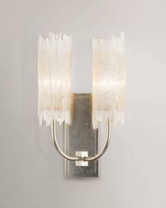 John-Richard Collection Selenite Double Wall Sconce