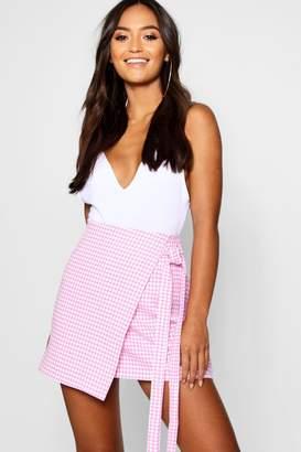 boohoo Petite Tie Wrap Skirt