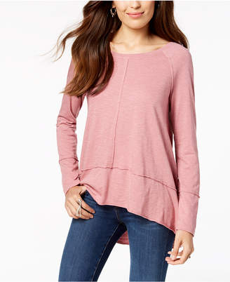 Style&Co. Style & Co Petite Seamed High-Low Top, Created for Macy's