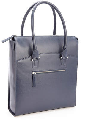 Royce Leather Royce Rfid Blocking Travel Carryall Laptop Tote Bag in Saffiano Leather