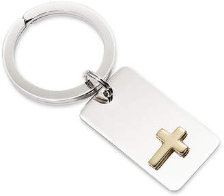Asstd National Brand Personalized Key Ring with Gold-Tone Cross