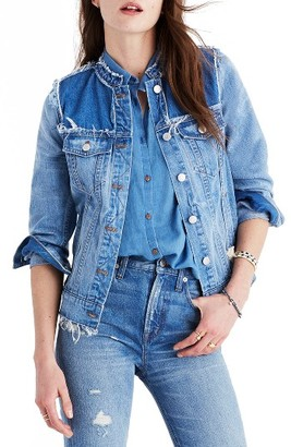 Women's Madewell Distressed Denim Jacket $128 thestylecure.com