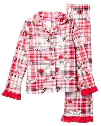 Betsey Johnson Plaid Pajama Set (Big Girls)
