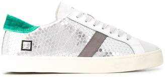 D.A.T.E metallic low top sneakers