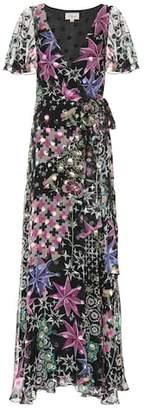 Temperley London Claudette silk-blend wrap maxi dress