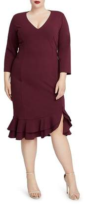 Rachel Roy Plus Blake Ruffle-Hem Dress