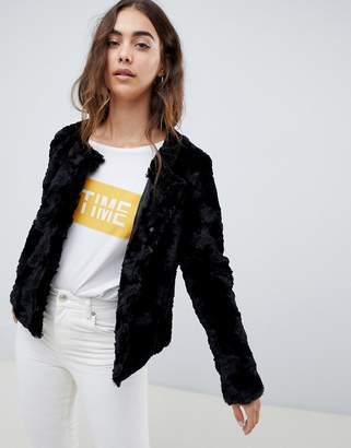 Vero Moda Faux Fur Crop Jacket