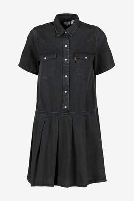 Levi's Womens Black Western Denim Dress - Black