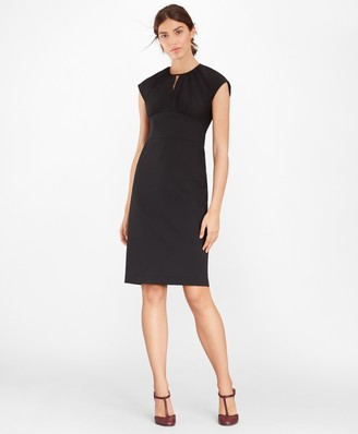 Brooks Brothers Petite Stretch Wool Cap Sleeve Sheath Dress