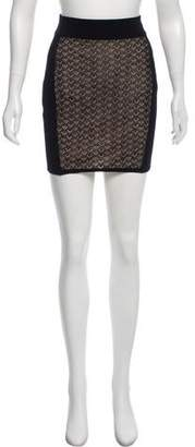 Rag & Bone Knit Patterned Mini Skirt