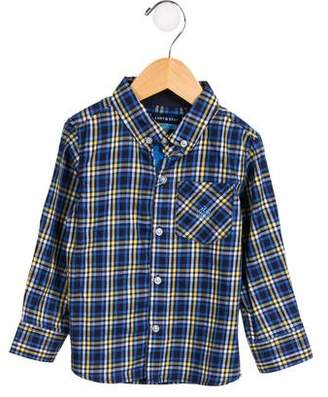 Andy & Evan Boys' Plaid Button-Up Shirt w/ Tags