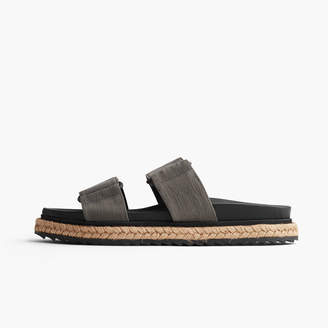 James Perse MONTANA DOUBLE BUCKLE COTTON SLIDE - WOMENS