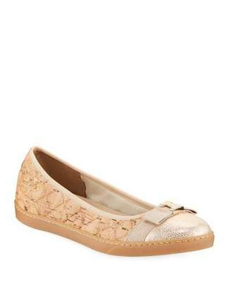 Sesto Meucci Fanya Quilted Cork Ballerina Sneakers