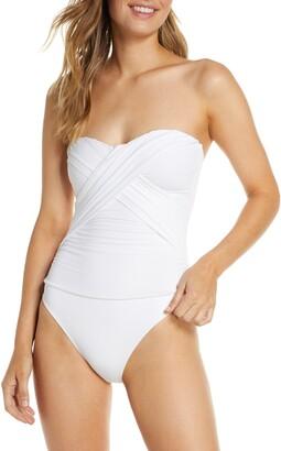 La Blanca Bandeau One-Piece Swimsuit