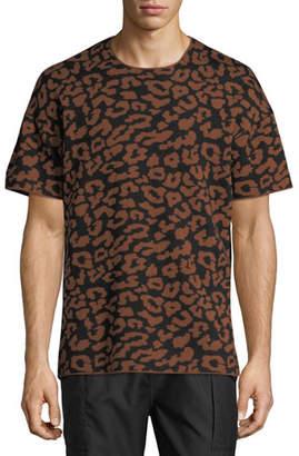 Ovadia & Sons Leopard Jacquard Wool T-Shirt