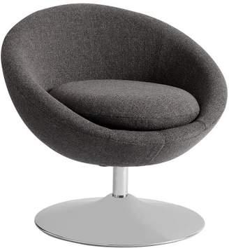 Pottery Barn Teen Astro Chair, Charcoal Tweed w/Chrome Base