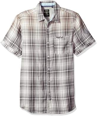 Buffalo David Bitton Men's Sagnessa Short Sleeve Plaid Button Down Shirt