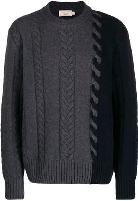 MAISON KITSUNÉ cable-knit jumper