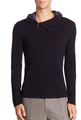Warwick Hooded Zip-Neck Sweater
