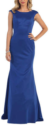 Asstd National Brand Simple Scoop Back Prom Dress