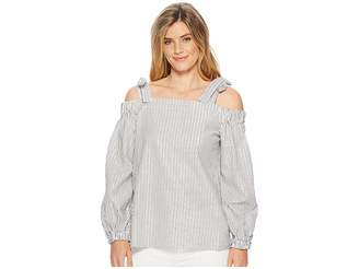 MICHAEL Michael Kors Off Shoulder Long Sleeve Top Women's Clothing