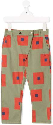 Bobo Choses square-print baggy trousers