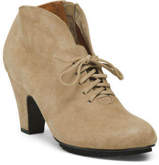 Suede All Day Comfort Lace Up Booties