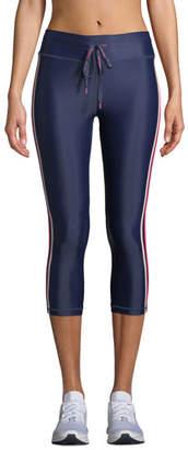 The Upside Sarafina NYC Side-Stripe Cropped Leggings