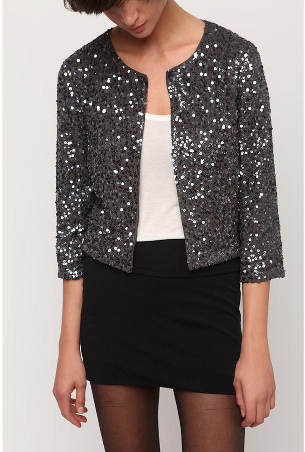 Silence & Noise Sequin Cardigan