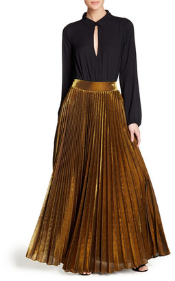 TOV Permanent Pleated Maxi Skirt $160 thestylecure.com