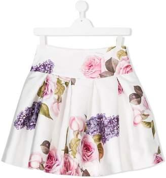 MonnaLisa TEEN Tuscan garden print skirt