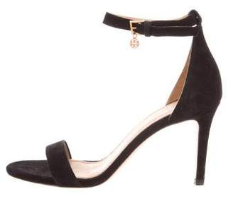Tory Burch Suede Ankle-Strap Sandals