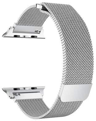 Giant Audio Stainless Steel Milanese Loop Replacement Band for 42MM Apple Watches - Silver