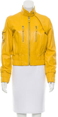Andrew Marc Leather Zip-Up Jacket $225 thestylecure.com