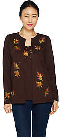 Factory Quacker Autumn Leaves Long Sleeve KnitDuet Set