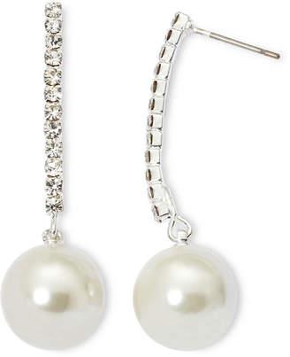 VIESTE ROSA Vieste Rhinestone and Simulated Pearl Drop Earrings