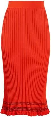 Altuzarra Gwendolyn ribbed-knit midi skirt