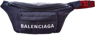 Balenciaga Logo Wheel Nylon Belt Bag