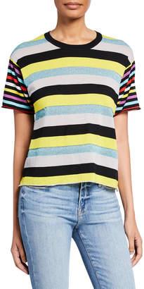 Replica Los Angeles Mix Stripe Short-Sleeve Boyfriend Tee