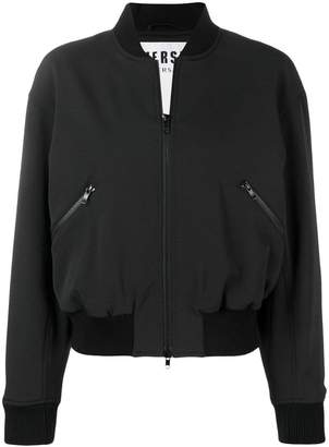 Versus contrast logo bomber jacket