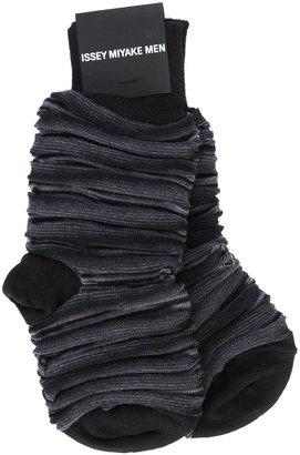 Issey Miyake striped socks $55 thestylecure.com