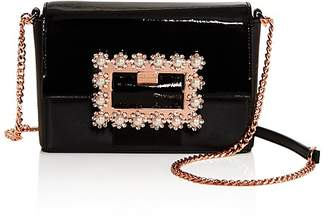 Ted Baker Peonyy Embellished Buckle Leather Clutch