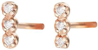 ginette_ny Diamond Strip Stud Earrings