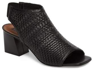 Topshop Nifty Woven Flared Heel Sandal (Women)