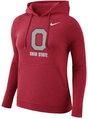 Nike Women Ohio State Buckeyes Club Hooded Sweatshirt