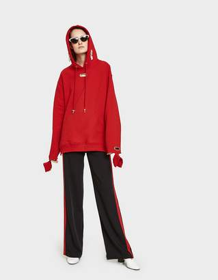 Collina Strada Earring Hoodie in Apple Red