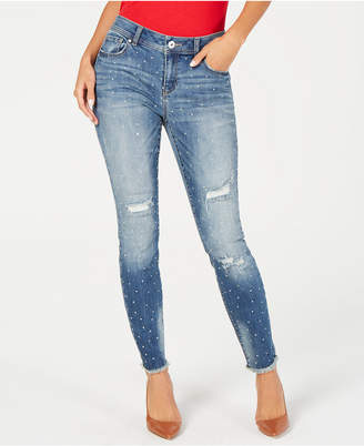 INC International Concepts I.n.c. Embellished Ripped Skinny Jeans, Created for Macy's