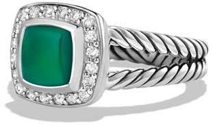 David Yurman Petite Albion Ring with Green Onyx and Diamonds