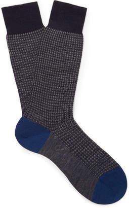 Pantherella Hatherley Puppytooth Merino Wool-Blend Socks