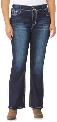 457131dade1 Wallflower Juniors  Plus Size WallFlower Mid-Rise Luscious Curvy Bling Bootcut  Jeans